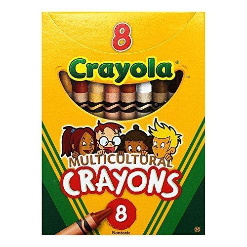 CRAYOLA LLC MULTICULTURAL CRAYONS REG 8PK Set of 36