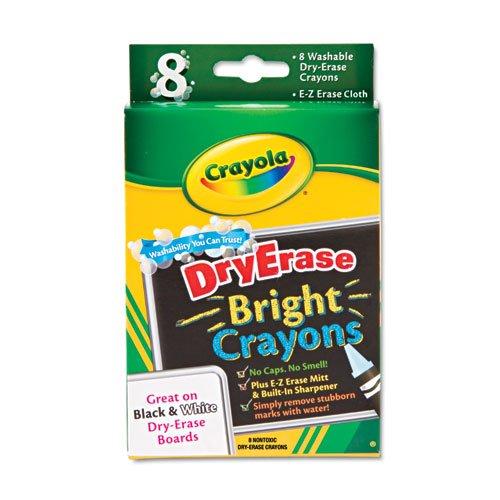Crayola 98-5202 Dry Erase Crayon 8 per box