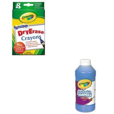 KITCYO543115042CYO985200 - Value Kit - Crayola Dry Erase Crayons CYO985200 and Crayola Artista II Washable Tempera Paint CYO543115042