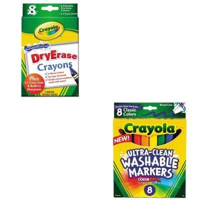 KITCYO587808CYO985200 - Value Kit - Crayola Dry Erase Crayons CYO985200 and Crayola Washable Markers CYO587808