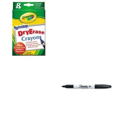 KITCYO985200SAN30001 - Value Kit - Crayola Dry Erase Crayons CYO985200 and Sharpie Permanent Marker SAN30001