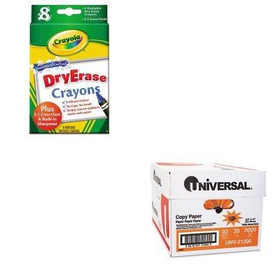KITCYO985200UNV21200 - Value Kit - Crayola Dry Erase Crayons CYO985200 and Universal Copy Paper UNV21200