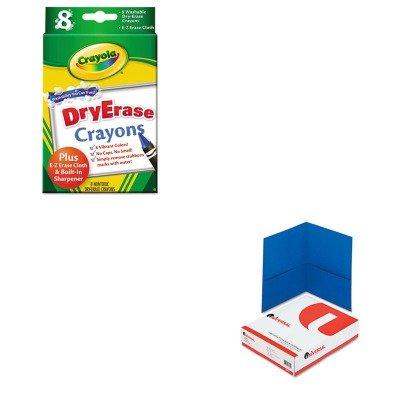 KITCYO985200UNV56601 - Value Kit - Crayola Dry Erase Crayons CYO985200 and Universal Two-Pocket Portfolio UNV56601