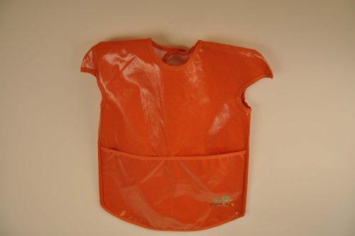 Childs  Toddlers Art Smock Burnt Orange Color with Velcro Neck Enclosure