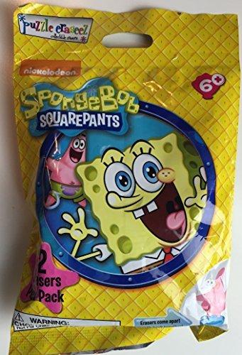 Spongebob Squarepants Puzzle Erasers Eraseez 2 Per Pack
