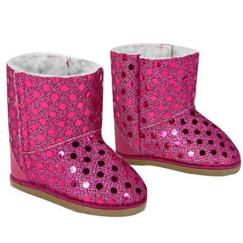 Doll Boots Hot Pink Sequins 18 Inch Doll Shoes Fits 18 Inch American Girl Dolls More Hot Pink Sequin Boots
