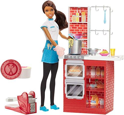 Barbie Spaghetti Chef African-American Doll Playset