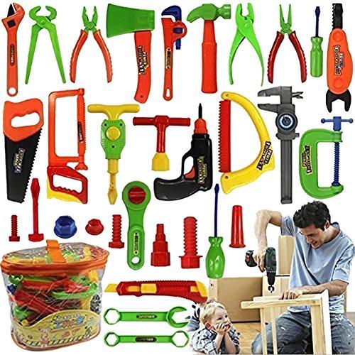 Zeroyoyo 34 pcs Repair Tools Set Boy Kid Toys Craftsman Pretend Play Fixing Skill