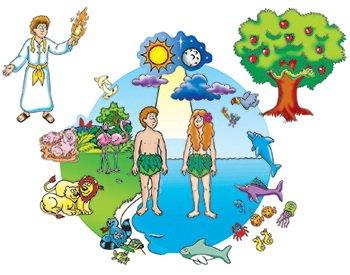 Little Folk Visuals Beginners Bible Creation Precut FlannelFelt Board Figures 17 Pieces Set