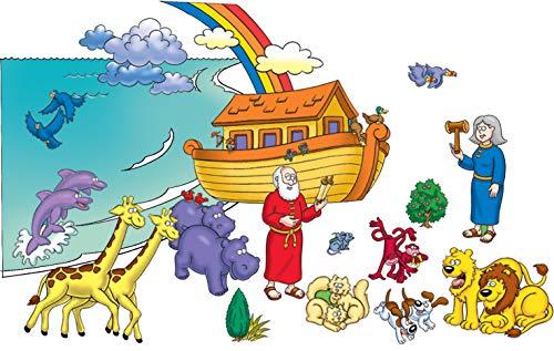 Little Folk Visuals Beginners Bible Noahs Ark Precut FlannelFelt Board Figures 20 Pieces Set