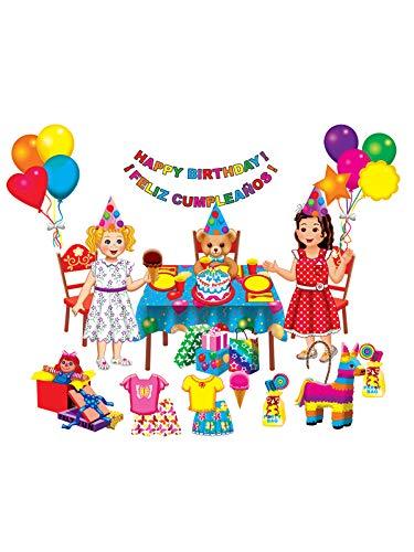 Little Folk Visuals Birthday Party Precut FlannelFelt Board Figures 26 Pieces Add-On Set
