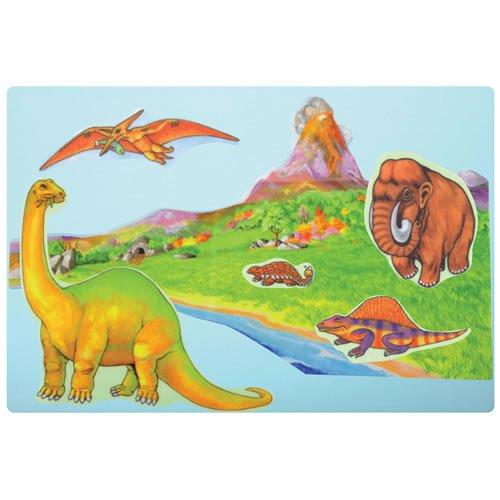 Little Folk Visuals Dinosaurs Precut FlannelFelt Board Figures 12 Pieces Set