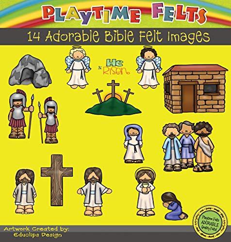 Playtime Felts He is Risen Bible Story Set for Flannel Board - Uncut