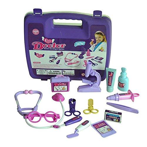FTXJ Childrens Kids Role Pretend Play Doctor Nurses Toy Medical KitPurple