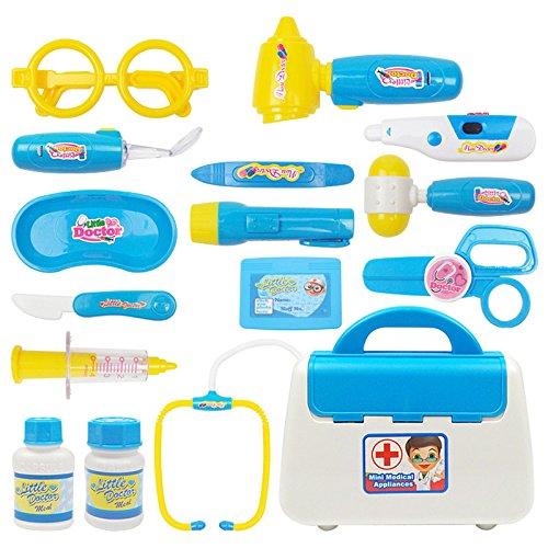 New Blue Kids Doctor Nurse Toy Children Pretend Play Medical Case Child Gift Set Kit By KTOY