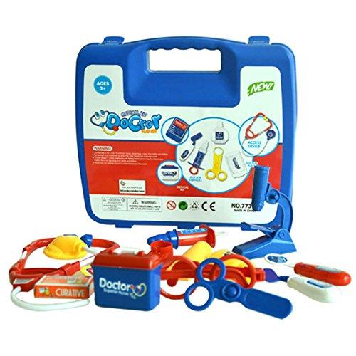 WensLTD Gift  Blue Childrens Kids Role Play Doctor Nurses Toy Set Medical Kit