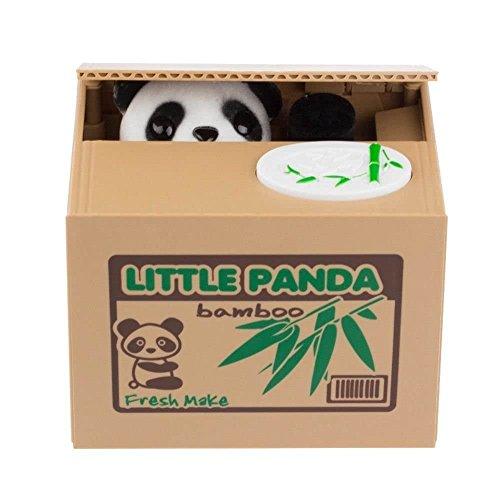 ABCBOX Mischief Saving Box Cute Panda Coins Bank - Robotic Panda Stealing Coin Money Toy Piggy Bank