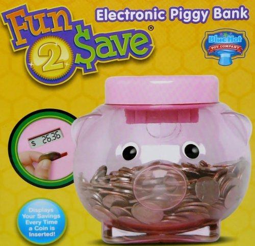 Fun 2 Save Electronic Piggy Bank Displays Savings of Coins Every Time Piggy Bank Toy
