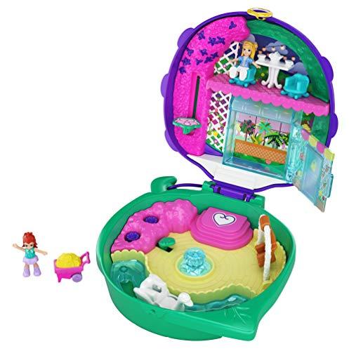 Polly Pocket Pocket World Lil Ladybug Garden Compact 2 Micro Dolls Accessories