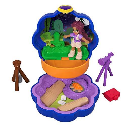 Polly Pocket Tiny Pocket Places Camping Compact Shani Doll