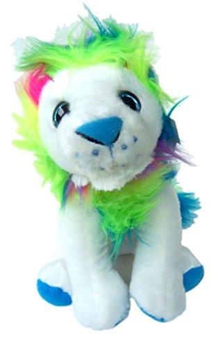 The Petting Zoo Rainbow Maned Lion Plush Stuffed Animal Small