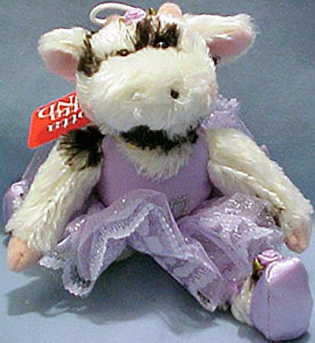 Dainty Dancer Purple Tutu Stuffed Cow