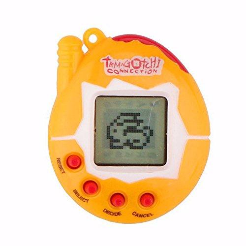 Dimart Electronic Digital Pet Handheld Game Machine Littlest Digital Toy Yellow