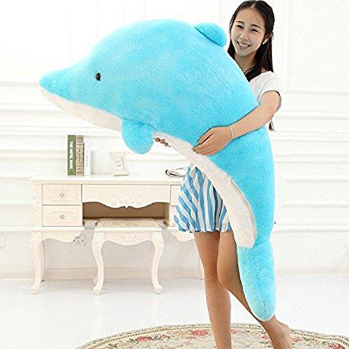Dolphin Stuffed Animal Plush Toy Pillow Gift For Children 140cm55