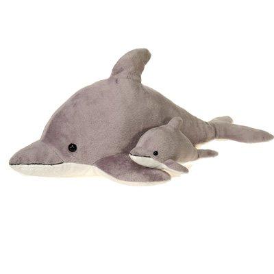 Gray Dolphin Plush Stuffed Animal Toy by Fiesta Toys - 22