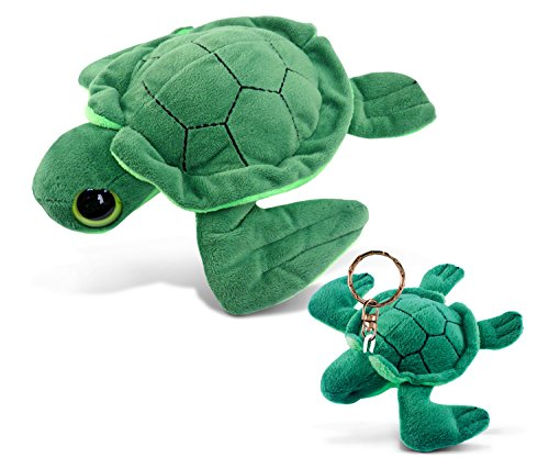 Puzzled Plush Turtle - Big Eye 6 Inch and Keychain