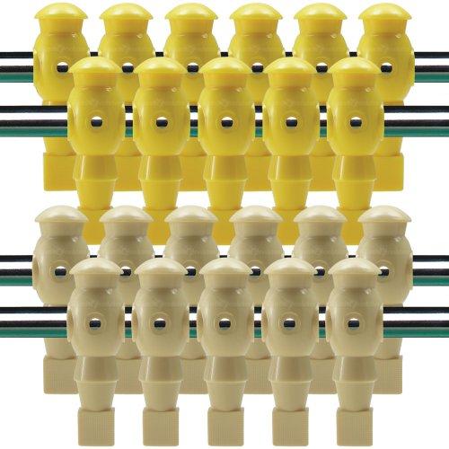 Billiard Evolution 22 Yellow and Tan Robotic Foosball Men