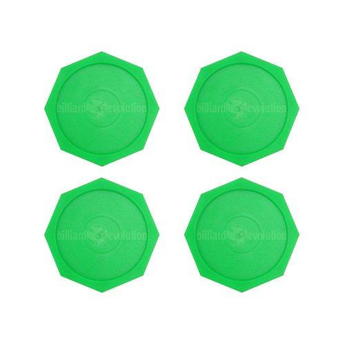 Billiard Evolution 4 Green Octagonal Air Hockey Pucks