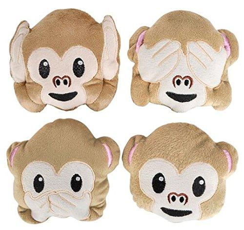 5 Plush Emoji Monkey Set of 4