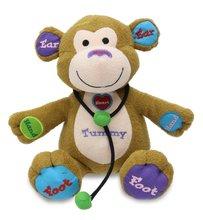 Cuddle Barn Learning Child Play Animated Plush Monkey Toy - Dr Charlie CB4761