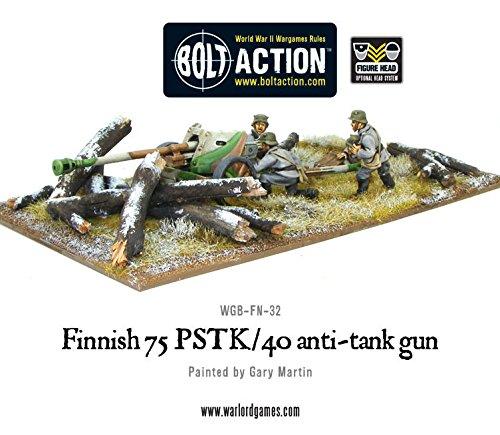 Finnish 75 Pstk40 Anti-tank Gun 28mm Bolt Action Wargaming Miniatures
