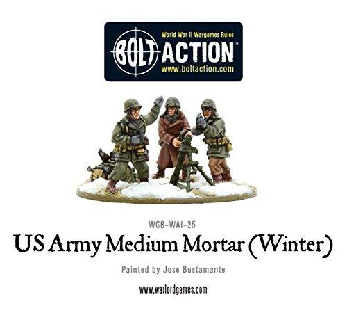 Warlord Games - US Army Medium Mortar Winter - 28mm Bolt Action Wargaming Miniatures