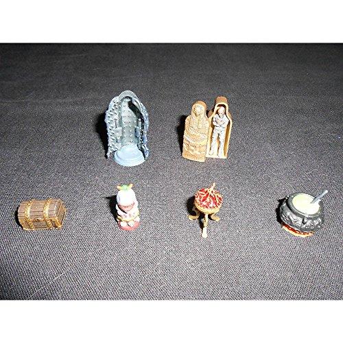 Dungeons Deep dressing lot -- 6 Pathfinder miniatures minis D&D Dungeons Dragons