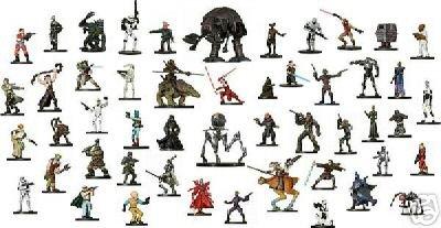 Star Wars Minis Miniatures 50 Figure Grab Bag