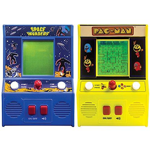 Set Space Invaders And Pac-Man Mini Portable Retro Joystick Arcade Games