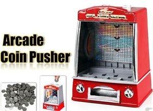 Sangdo Novelty Mini Arcade Fairground Coin Pusher Game Replica Penny Pusher Children