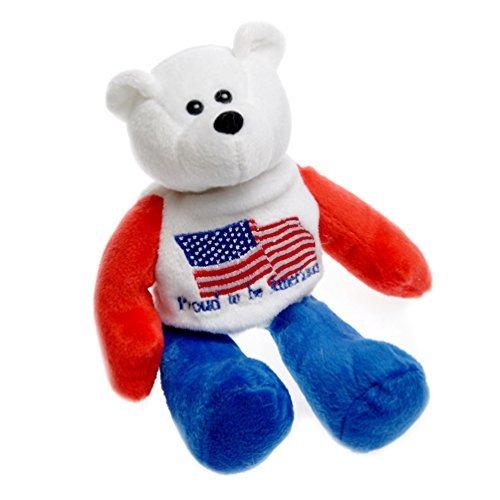 Proud to be American US Flag American Patriotic Plush Stuffed Teddy Bear Doll 825 Tall