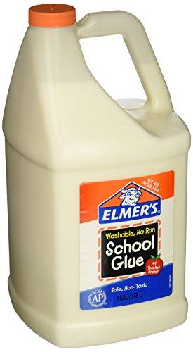 Elmers E340NRSS School Glue Jar Washable 1 gal Capacity White