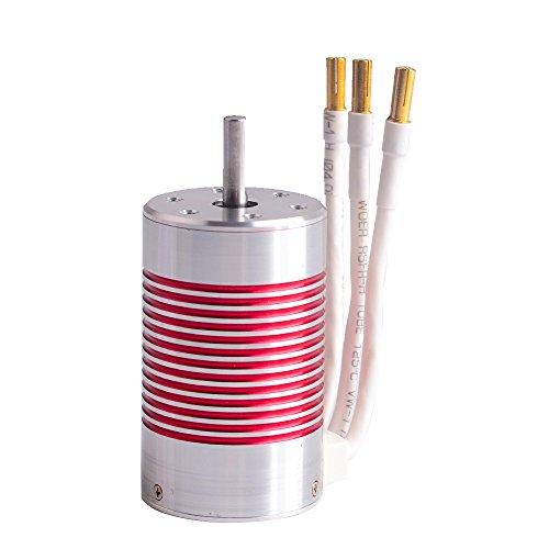 3660 3800KV RC Brushless Motor 4 Pole Sensorless Waterproof 3175mm Shaft for 110 110 Scale RC car 3660 3800KV