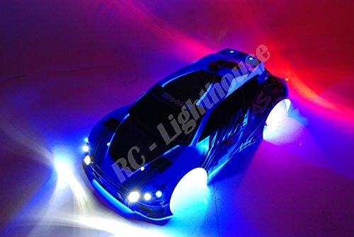 Traxxas Ken Block Fiesta Ralley RC Car LED Light Set - Deluxe Custom lights - Universal Mounting 3