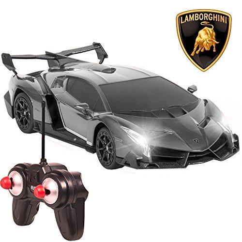 Toycity Remote Control 124 Officially Licensed Sport Car Orange Lamborghini Veneno Color Gray
