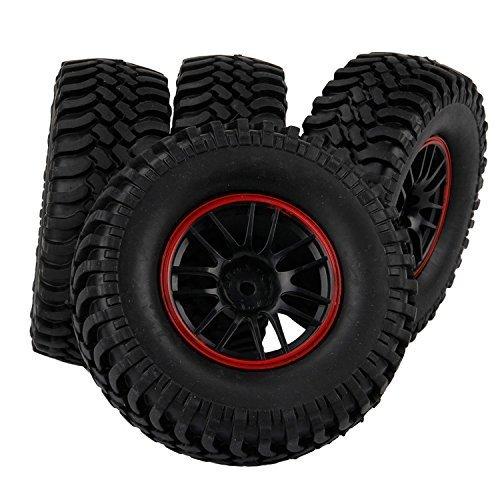 Yiguo RC 110 Off-Road Rock Crawler Car 14 Spoke Wheel Rims and 100mm Tires Set of 4