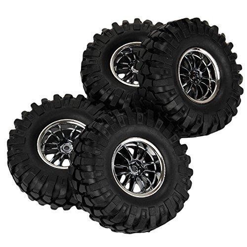 Yiguo RC110 Off-Road Rock Climbing RC Car Plating 12 Spoke Wheel Rims and Gravel Shape Pattern 108mm Tires set of 4
