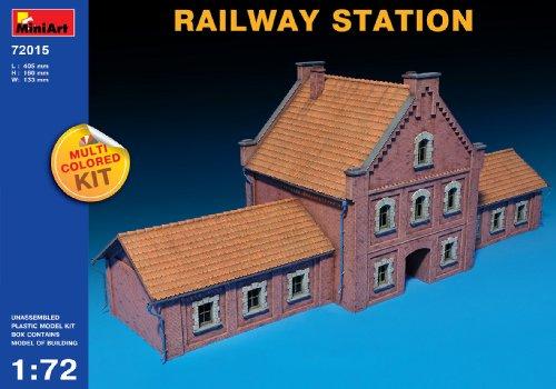 Miniart Kids Hobby Military Toy Railway Station