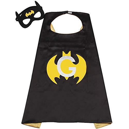 Batman Outfits Boys ToddlerSuperhero Outfit Girls Super Hero Batman Cape Mask Yellow
