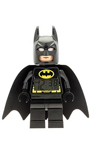 LEGO DC Comics Super Heroes Batman 9005718 Kids Minifigure Light Up Alarm Clock  BlackYelow  Plastic  95 inches Tall  LCD Display  boy Girl  Official